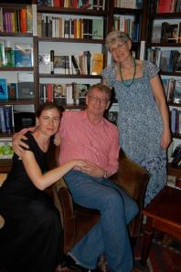 With my Mom and André, photo by Liesl Jobson