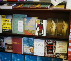 The first copies of Invisible Others at Protea Bookshop in Rondebosch, photo by Roma Szczurek