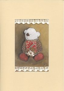 Mis w swetrze (Teddy in pullover) by Magda Lipiejko