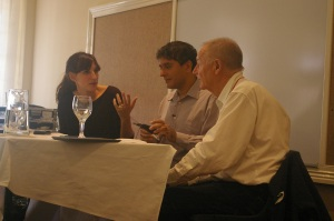 Nadia, Imraan and Michiel at the FLF