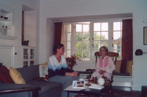 With Nadine during our first interview in 2004.