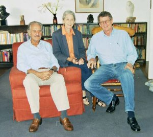 With Carlos Fuentes and André at home in 2006.