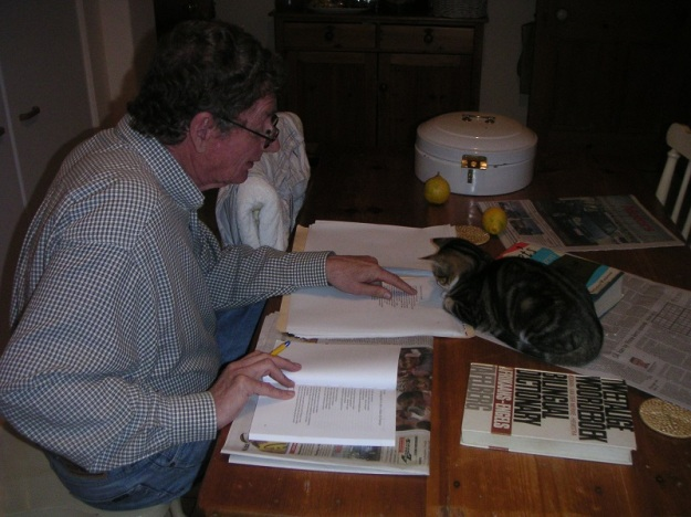 Salieri supervising André's translations of Ingrid Jonker's poetry for Black Butterflies