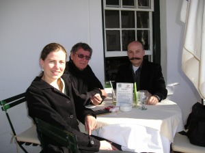 Jerzy Koch, André and I in Stellenbosch in 2006.