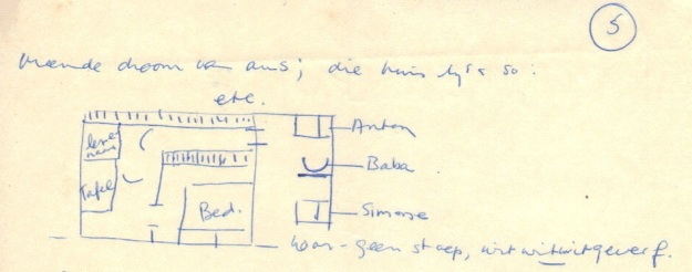 Drawing in Ingrid's letter of 15 October 1963