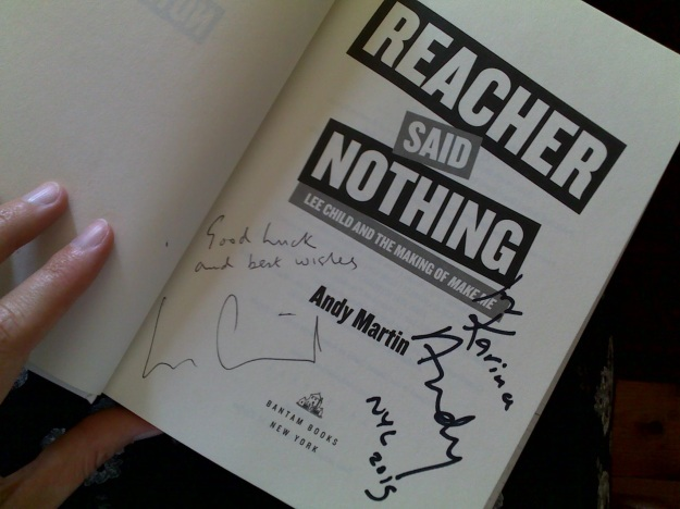 Reacher Said Nothing signed