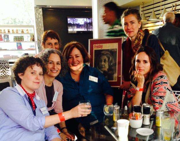 Meg Vandermerwe, Anne Landsman, Diane Awerbuck, Helen Moffett, Karina with Nadine, and Rachel Zadok