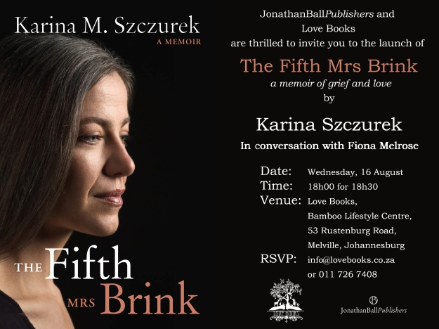 Love Books Invitation_The Fifth Mrs Brink