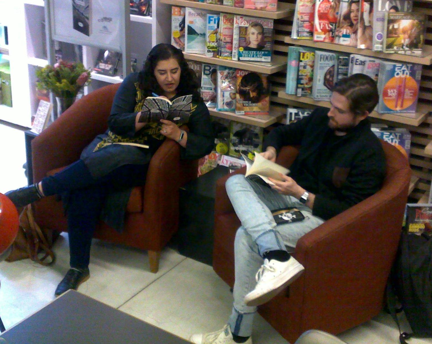 Saaleha Idrees Bamjee with Nick Mulgrew