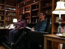 Leonie Joubert interviewing Helen Moffett