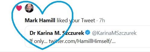 Mark Hamill liked your tweet